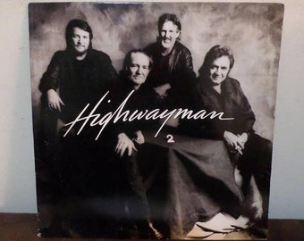 Vintage 1990 Vinyl LP Record Highwayman 2 Waylon Jennings Willie Nelson Johnny Cash Kristofferson Excellent 13655