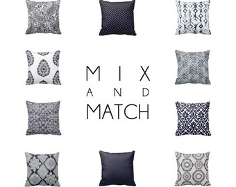 Throw Pillow Cover Decorative Pillows for Bed Damask Pillow Navy Blue Pillow Cover Navy Pillow Accent Pillows 20x20 Pillows 18x18 Pillows
