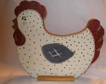 ROOSTER  KITCHEN DECOR Counttry Rustic Handpainted