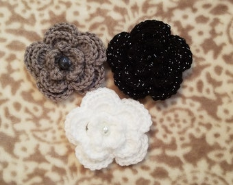 Flower Hair Clip set, hair accessories, girls hair clips, beauty, flowers