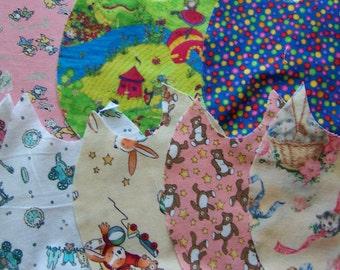 fabric flannel scraps pack five