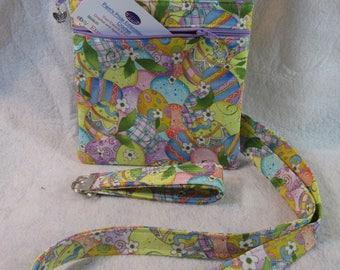 Easter Egg Theme Fabric Crossbody Bag w/ adj strap Free Shipping
