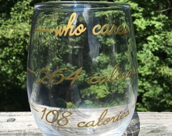 Who Cares Stemless Wineglass