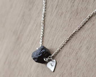GENUINE raw Black Tourmaline Necklace Healing Crystal Natural Stone Yoga Jewelry healing jewelry  healing jewelry positive energy