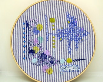 Modern Hand Embroidery, Contemporary Embroidery, Embroidered Groupings, Unique gift for her