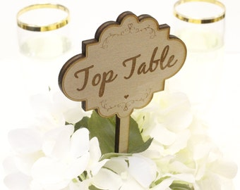 Vintage Style Top Table Favor | Wood