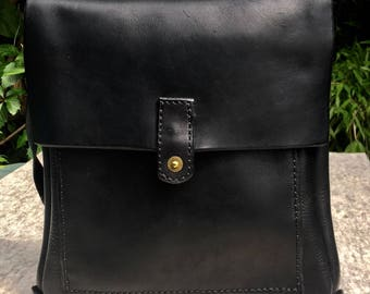 Kuki Originals  Super Soft Hand Stitched Leather Shoulder Bag with Adjustable / Cross Body strap