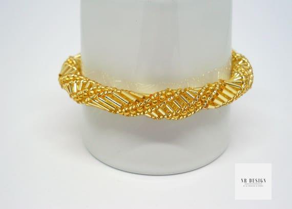 Bracelet handmade beads gold