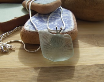 """Messages in a bottle """"necklace with glass pendant sea."""""""