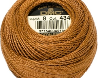 DMC 434 Perle Cotton Thread | Size 8 | Light Brown