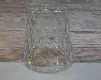 Clear Glass Diamond Cut Candle Cup for a Candle Holder, Homco Home Interiors Vintage Cut Glass Candle Cup