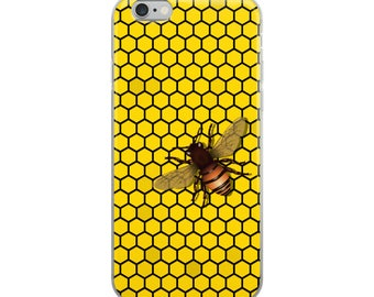 Honeycomb & Honey Bee Cell Phone Case iPhone Case 6 Plus, 6/6s, 7 Plus, 8 Plus, X Bees Beekeeping Apiary