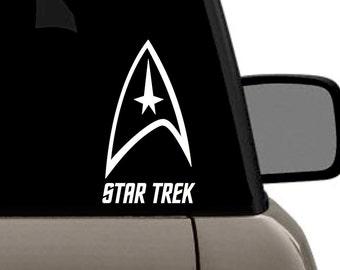 "Star Trek Federation Command Delta Logo Vinyl Decal  Multiple Colors Bumper Sticker 4"" x 8"""