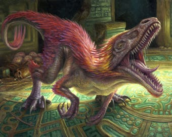 Relentless Raptor, signed giclee print