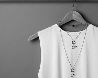 Nicotine Molecule Necklace - Black