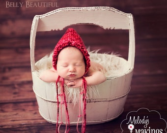 Valentine's Day Bonnet Knitting Pattern - 5 Sizes Included - PDF Sale - Instant Digital Download