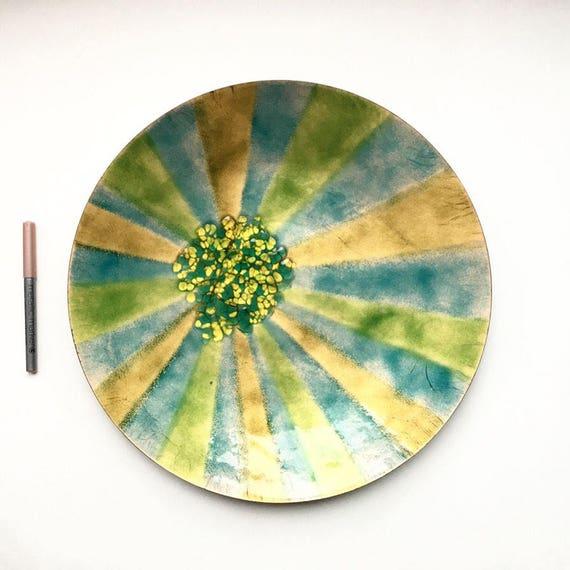 Vintage Enameled Bovano Platter