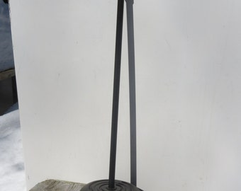 Vintage Black Cast Iron Microphone Stand
