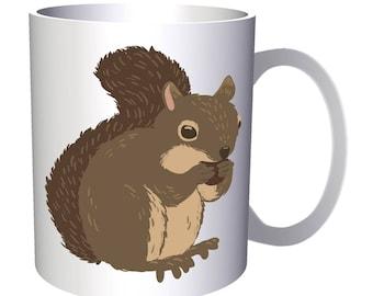 Lovely Autumn Squirrel 11oz Mug p654