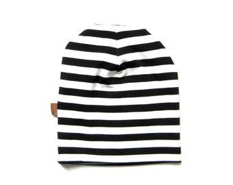 Striped Hat, Toddler Beanie, Infant Beanie, Toddler Hat, Children Clothing, Boy Beanie, Slouchy Beanie, Under 20 Dollars, Ready to Ship