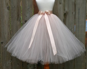 Blush Tutu Skirt, Blush Tutu, Flower Girl Tutu, Junior Bridesmaid Tutu, Pink Tutu, Blush Flower Girl Tutu Skirt