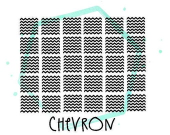 Small Chevron Vinyl Nail Stickers