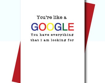 card for finance, anniversary card funny, card for boyfriend, valentines card for him, valentines card funny, google card, funny love card