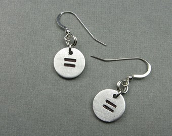 Equality Jewelry - Earrings with Equals Signs or Symbols - Math Jewelry for Teacher