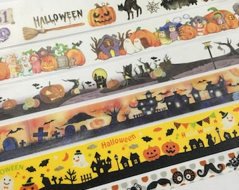 SAMPLE: 6 Designs of Halloween Limited Edition Washi Tape (1m each)