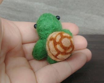 Turtle, Turtle Decor, Needle Felt Turtle, Wool Turtle, Cubicle Decor, Felt Turtle, Mini Turtle, Turtle Sculpture, Turtle Gift for Her