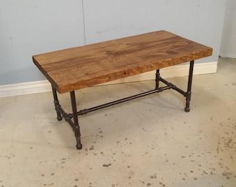 Industrial Pipe Coffee Table / Reclaimed Wood Coffee Table