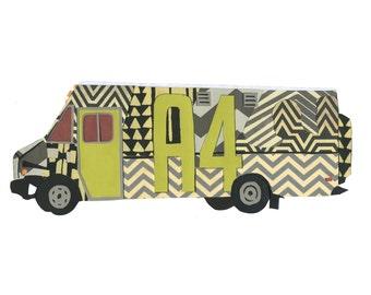 Area Four Food Truck 5x7 print - Boston Food Trucks