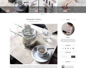 Blogger Template - Responsive Premade Template - Minimalist template - Photography Fashion - Theme Blogspot