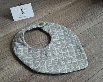 Geometric pattern 0-24 month bandana bib
