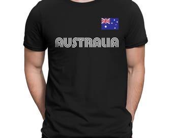 Australia Country Pride Outback Canberra Australian Aussie Sydney Melbourne Brisbane Men's T-shirt AUS-01