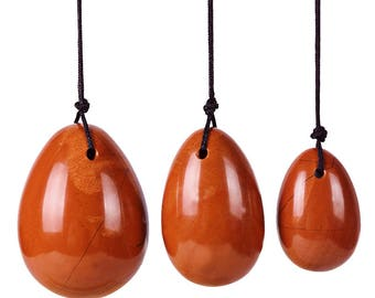 Red Jasper Yoni Eggs Set of 3