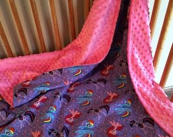 My Little Pony minky blanket