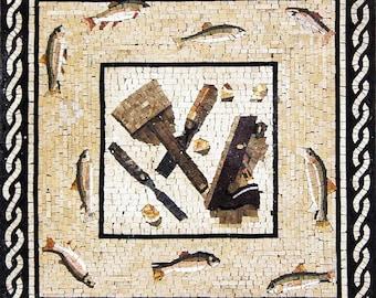 Nautical Marble Mosaic