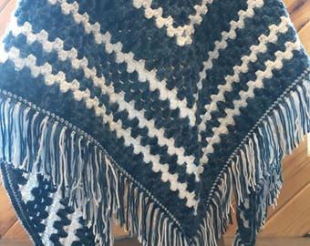 Prayer Shawl, Shoulder Shawl, Crochet Shawl, Triagular Shawl