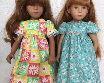 Choice of Dress with Pants for Sasha Doll: Daisies, or Aqua with Peach Flowers