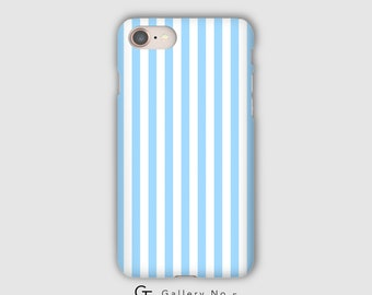 Blue and white striped phone case - iPhone 7 - iPhone 8 - iPhone X - Samsung Galaxy Note 8 - Samsung Galaxy S6 - S7 - S8 - S9
