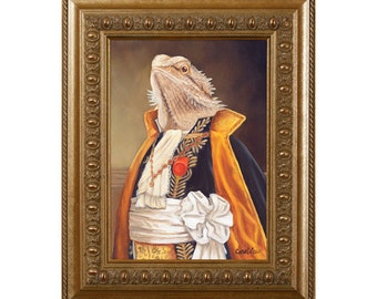 Bearded Dragon Magnet, Spike, Refrigerator Magnet, Bearded Dragon Gifts