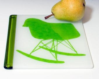 Mod Rocker Fused Glass Trivet