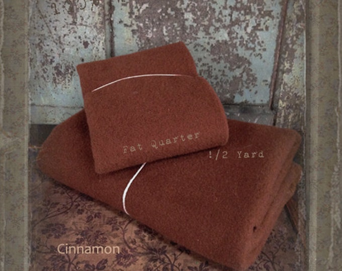 Wool: Fat Quarter 100% Wool - Cinnamon - Marcus Fabrics