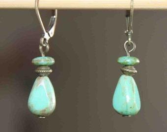 Green Earrings Czech Earrings Jewelry Dangle Earrings Drop Earrings Boho Chic Earrings Gift For women Birthday Gift For Her