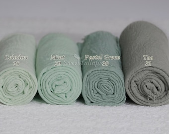 Newborn Wrap Mint Pastel Green cheesecloth Photo Prop Newborn wrap baby wrap prop newborn wrap newborn photo prop Baby Muslin Swaddle RTS