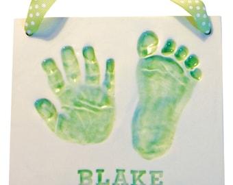 Newborn Baby Handprint Clay Keepsake