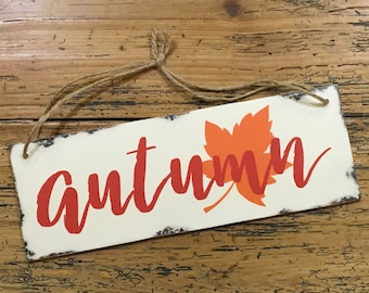 Autumn Wood Sign, Fall Decor, Rustic Fall Sign, Fall Theme Wooden Sign, Autumn Decor, Wood Wall Art, Fall Typography, Ready To Ship, Gift