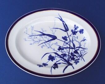 Platter Cobalt Blue George Jones & Sons c 1890 Stoke England