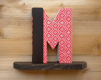 Letter Book(M) #613, Initial Book, Book Art, Unique Gifts, New Mom Gifts, Room Decor, Book Shelf Decoration, Library Decor, Wedding Gift
